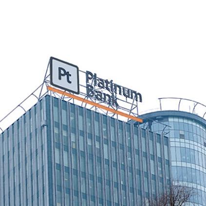 Световая накрышная конструкция для Platinum Bank PT